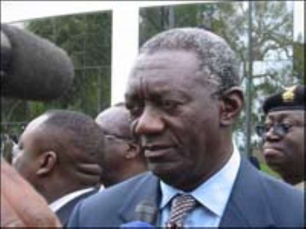 Abusive and foul political language not good - President Kufuor
